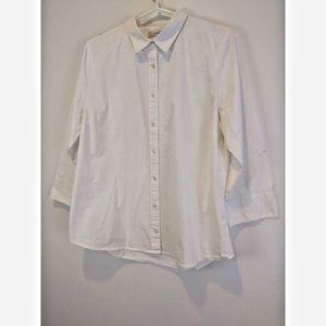 J. Crew Stretch Perfect Collared White Shirt